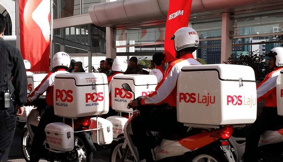 Pos Malaysia couriers